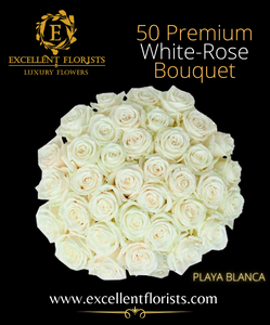 Bouquet 50 stems Playa Blanca roses