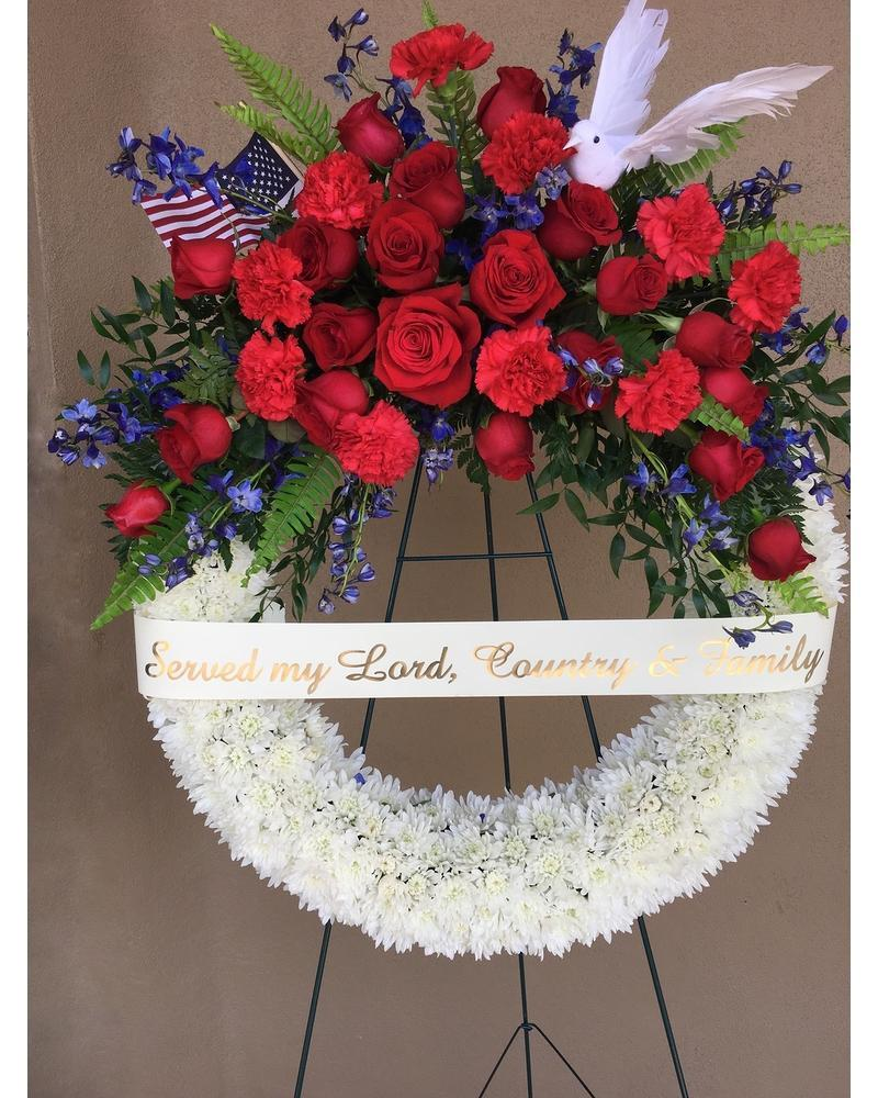 Patriotic Wreath - Excellent Florists