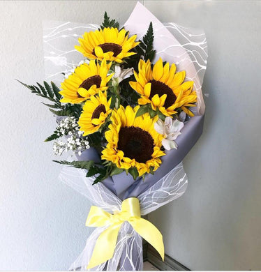 5 Sunflower Preserved Bouquet