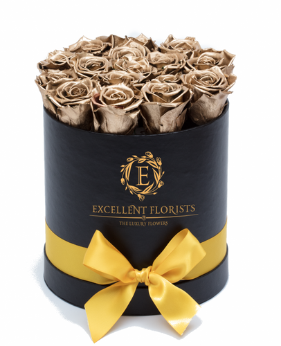 Gold Preserved Roses - Excellent Florists