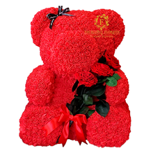 Load image into Gallery viewer, Teddy Bear 70cm - Red Preserved Rose Bouquet