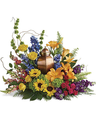 With All Our Hearts Cremation Tribute - Excellent Florists