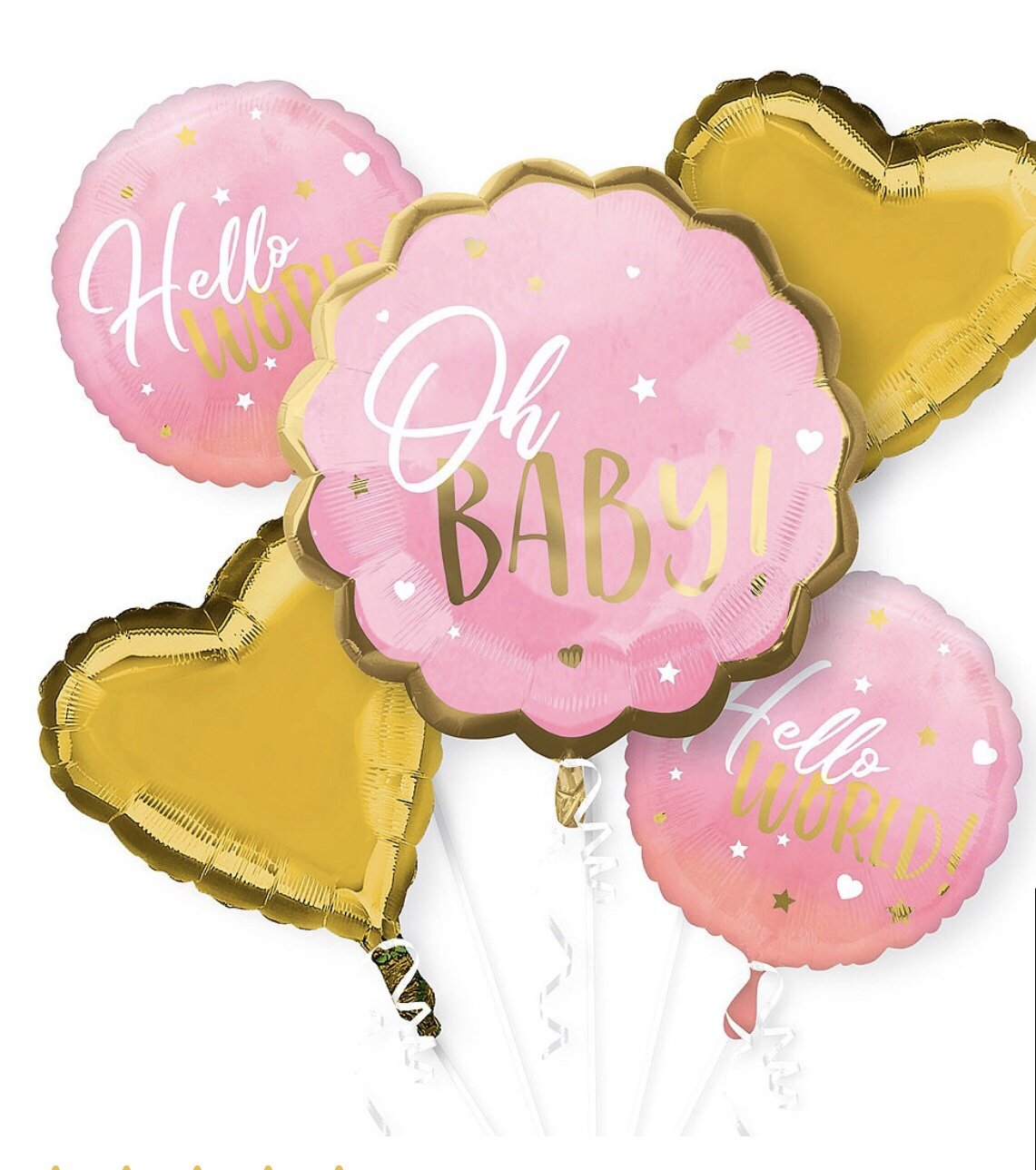 Oh New Baby Balloon Bouquet 5pc