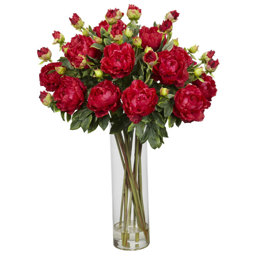 Red Peonies Arrangement in a Vase