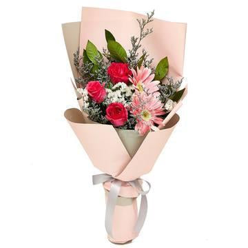 Pink Blush Rose Bouquet with Greenery * VASE NOT INCLUDED