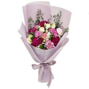 Purple Flower Bouquet with Greenery * VASE NOT INCLUDED