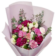 Load image into Gallery viewer, Purple Flower Bouquet with Greenery * VASE NOT INCLUDED