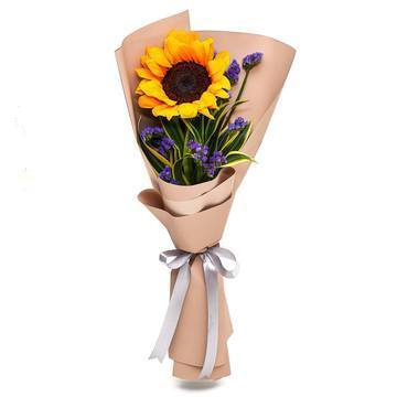 Solo Sunflower Bouquet with Greenery * VASE NOT INCLUDED