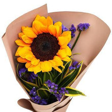 Load image into Gallery viewer, Solo Sunflower Bouquet with Greenery * VASE NOT INCLUDED