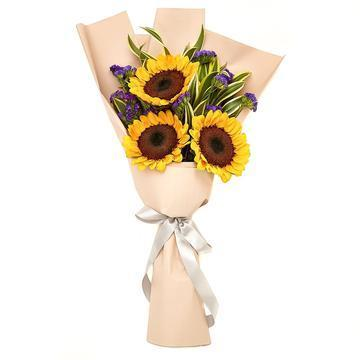 Sunflower Bouquet with Greenery * VASE NOT INCLUDED