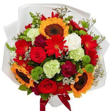 Load image into Gallery viewer, Sunflowers and multicolor Bouquet with Greenery * VASE NOT INCLUDED