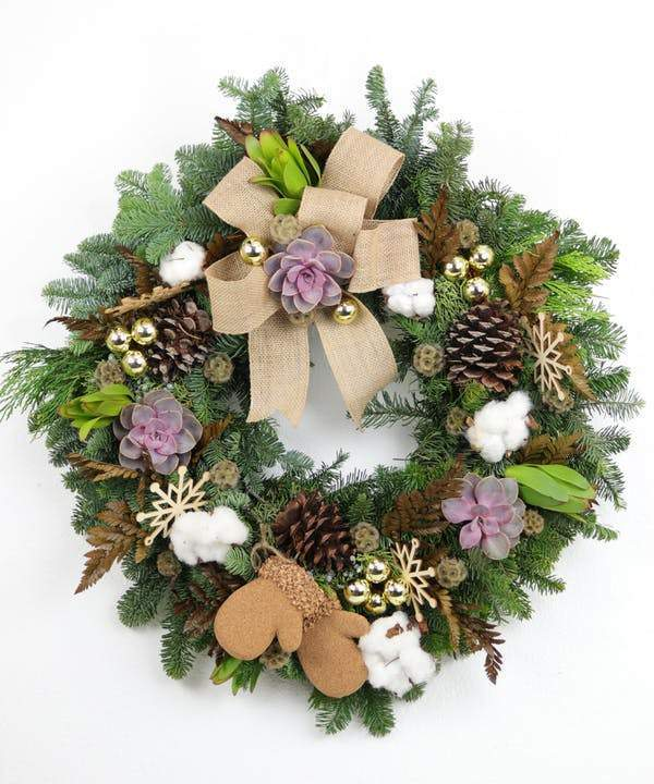 Holiday Textures Wreath