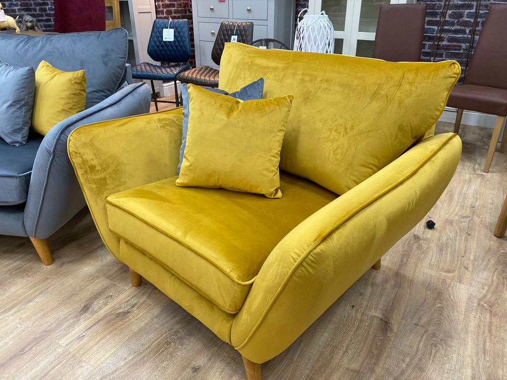 mustard love chair armchair west midlands sofa showroom