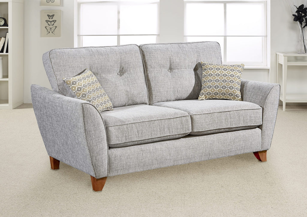 furniture for the home 2 seater fabric grey sofa