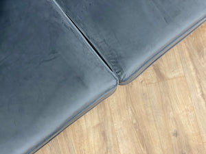 small grey velvet sofa dudley west midlands