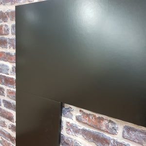 Fireplace Back Panel & Hearth Set in Black Electric Fire Surround 48 inch