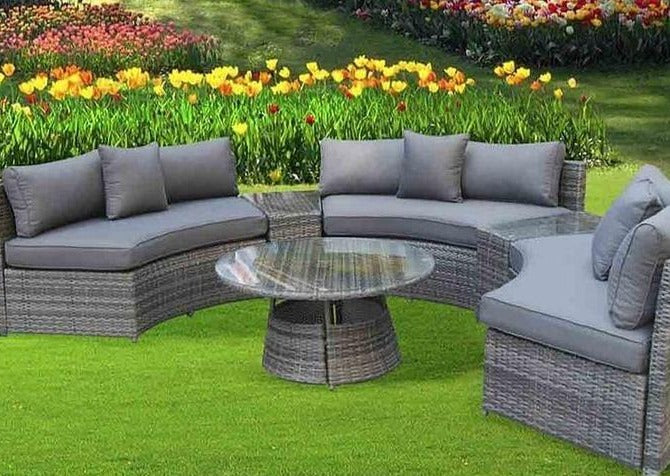 Signature Weave Rattan, Juliet Half Moon Rattan Sofa Set, Curved Rattan Sofa Set, Grey Curved Rattan Sofa, , Wayfair Rattan, Luxury Rattan, Maze Rattan, Sol 72 Outdoor Rattan Garden Furniture, Rattan Corner Sofa, Rattan Garden Furniture, Brown Rattan Corner Sofa, Rattan Republic, Rattan Corner Sofa Set