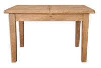 Oakwood Living Country Oak 1.2 Extending Dining Table 120/160 x 80 x 76 cm