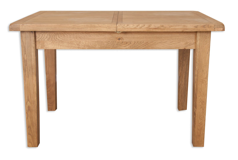 solid oak extending dining table 1200cm 1600cm 1.2 meters 1.6 meters