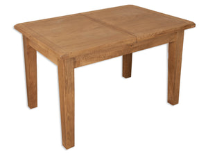 oakwood dining table extendable 1.2m medium oak solid wood 1.6m