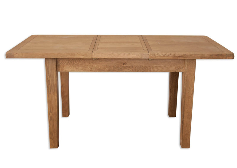 solid oak extending dining table butterfly extension seats 6 8 2.10 meters 1.6 meters