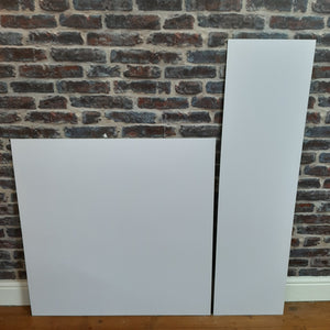 White Black Grey Cream Marble Effect HPL Laminate Fireplace Back Panel & Hearth