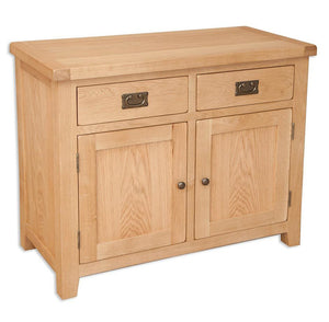 solid oak hall way dining living room small sideboard unit storage cupboard furniture