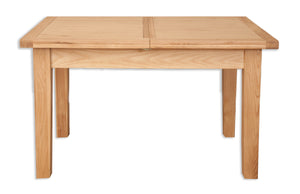 natural solid oak extending dining table 4 6 seater butterfly extension