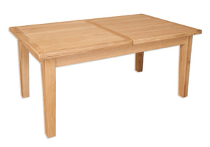 Oakwood Living Natural Oak 1.2 Extending Dining Table 120/160 x 80 x 76 cm