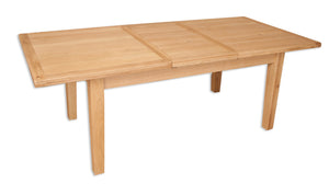 butterfly extending dining table natural solid oak 6 seater