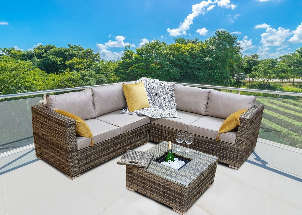 Rattan Ice Bucket, Sol 72 Outdoor Rattan Garden Furniture, Brown Rattan Corner Sofa, Brown Rattan Garden Furniture Set