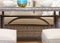 Rattan Outdoor Patio Garden Corner Sofa Dining Table Chairs Set Aluminuim