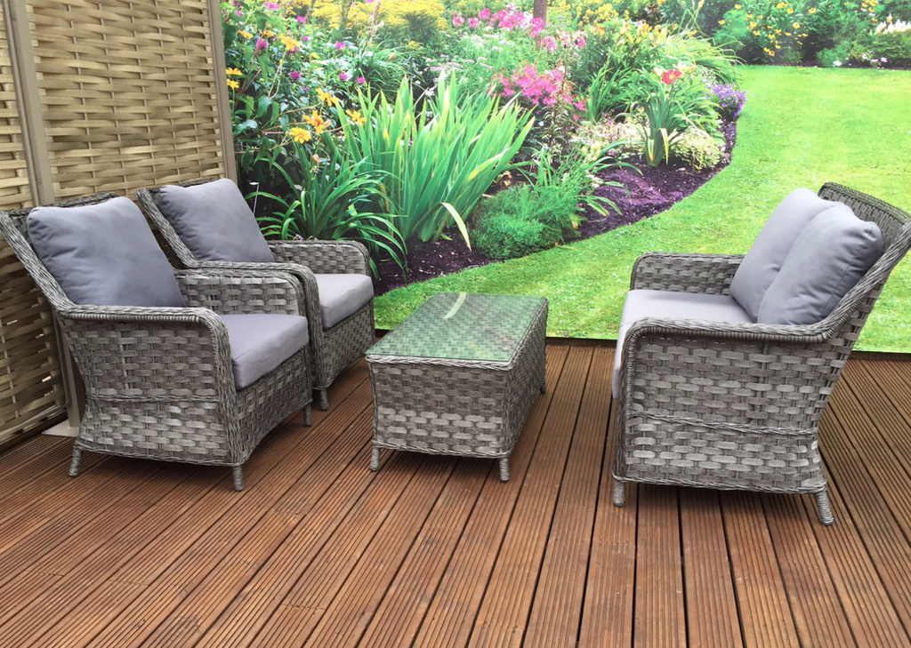 conservatory garden rattan furniture 4 seater sofa lounge set