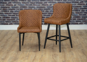 Shoreditch Montreal Rivington Dunelm Wayfair Tan Brown Industrial Dining chair and bar stool