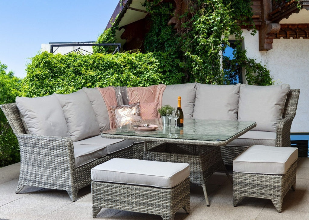 Signature Weave Rattan, Sarah Rattan Corner Sofa Set, Wayfair Rattan, Luxury Rattan, Sara0048, Sol 72 Outdoor Rattan, CasaGiardino, Rattan Republic, Brown Rattan Sofa, Rattan Rattan Adjustable Table, Signature Weave, Sarah Rattan, Corner Sofa, Large Rattan Corner Sofa Set