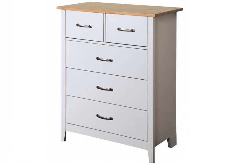 Steens Norfolk Grey and Pine 3+2 Chest of Drawers