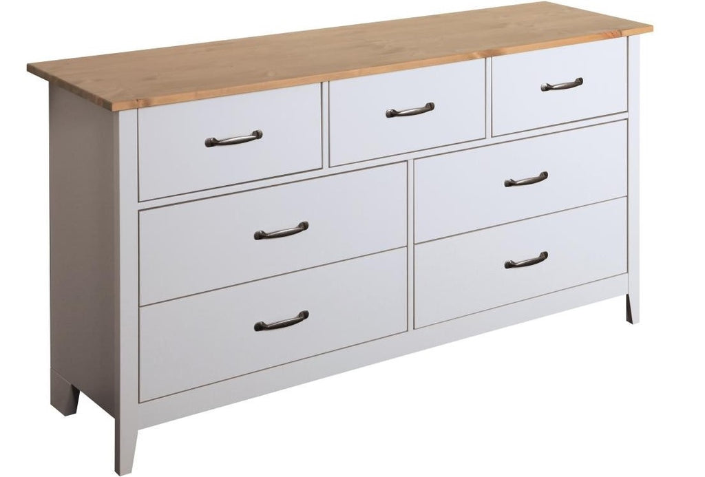 Steens Norfolk Grey and Pine 3+4 Chest of Drawers