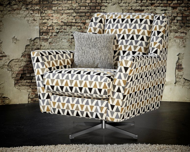 Vegas Silver Fabric Corner Sofa with Chaise Footstool, Grey, Brown, Beige