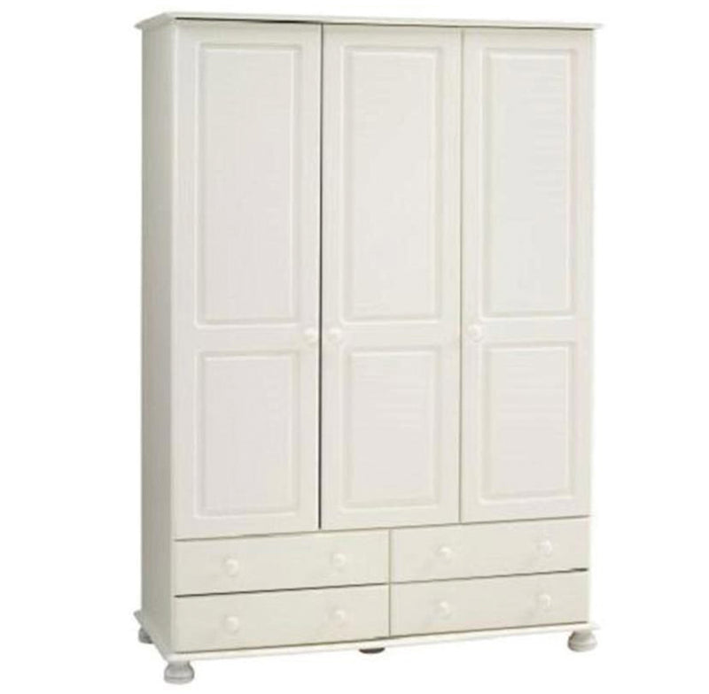 Richmond 3 Door 4 Drawer Wardrobe White