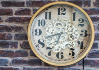 Simple Skeleton Moving Gears Wall Clock
