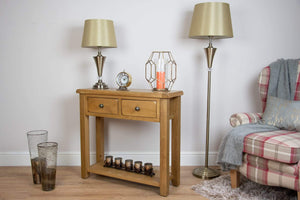 solid oak hall way dining living room small console unit storage furniture