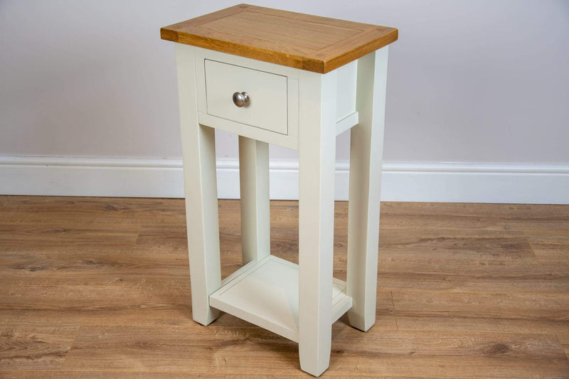 solid oak painted ivory console tables lamp table living room hallway furniture