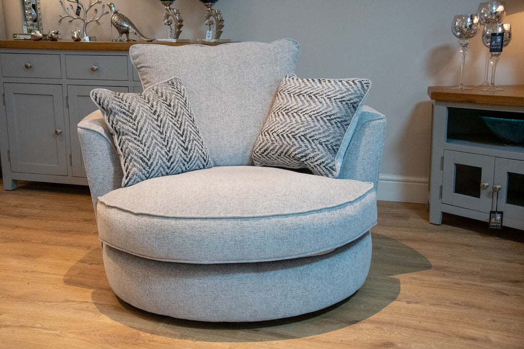 'Fantasia' Swivel Chair - Available In Wide Range of Fabric Choices.