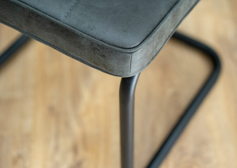 hoxton fabric industrial dining chair