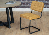 mustard yellow hoxton dining chair dundee