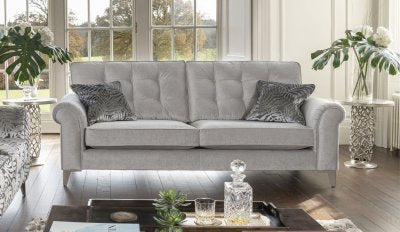 button backed scroll armed jasmine sofa collection