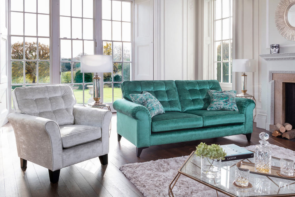'Jasmine' 3 Seater Sofa - Available in a Premier Fabric Collection.