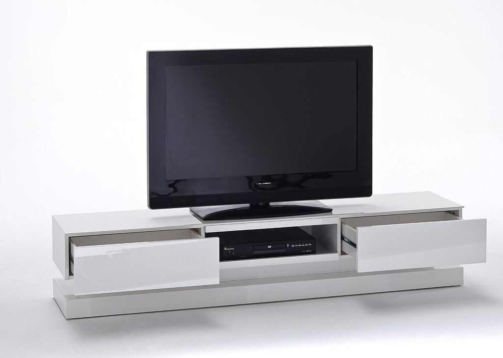 ModaNuvo 'Step' White Gloss LED TV Unit with Drawers