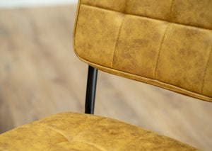 mustard yellow hoxton dining chair dundee furniture for the home