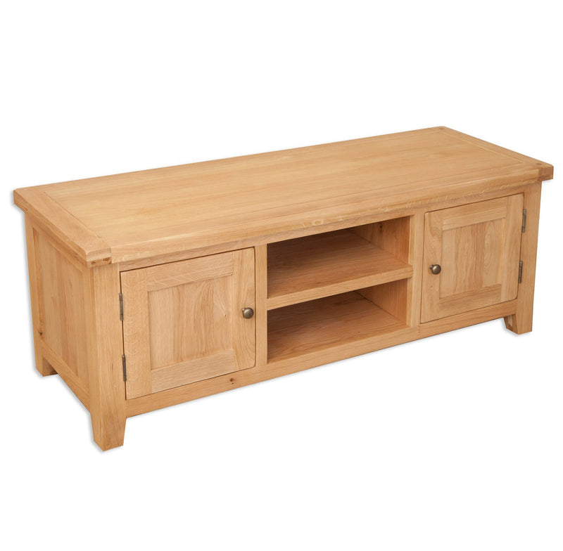 Oakwood Living Natural Oak Plasma TV Unit 134 x 45 x 50 cm